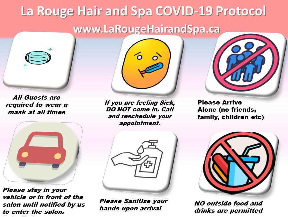 La Rouge Hair and Spa Covid-19 Protocol