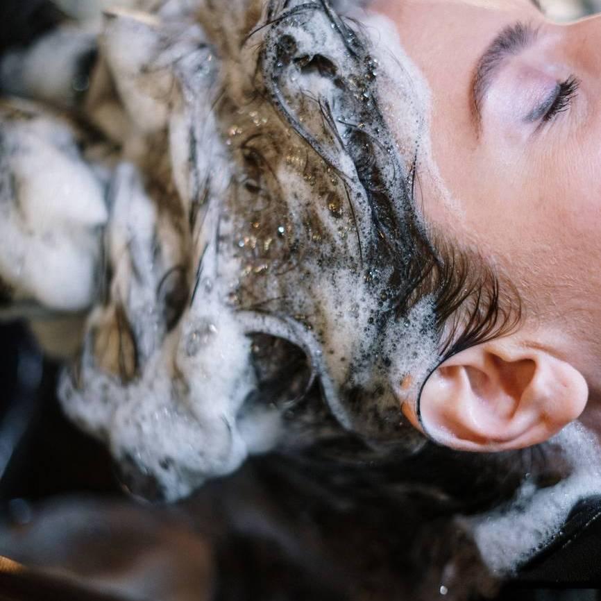 woman getting hair botox